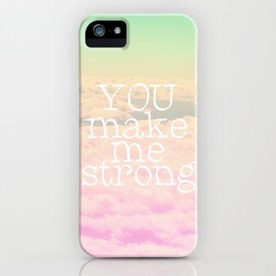 YOU MAKE ME STRONG iPhone & iPod Case by SUNLIGHT STUDIOS  Monika Strigel - $35.00