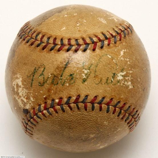 Babe Ruth autographed baseball
