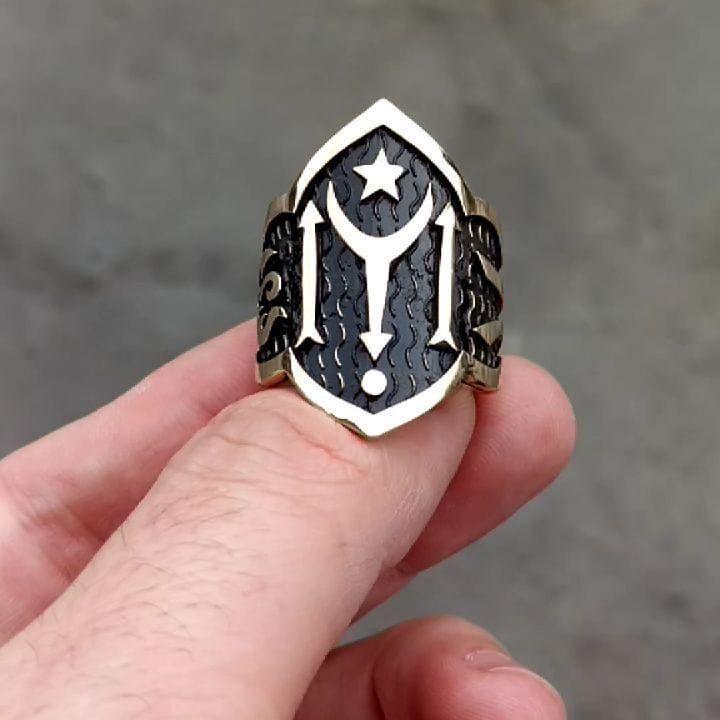 خاتم فضة 925 ارطغرل للابهامالسعر 325 ريال سعودي Sterling Silver Skull Rings Fire Jewelry Sterling Silver Mens