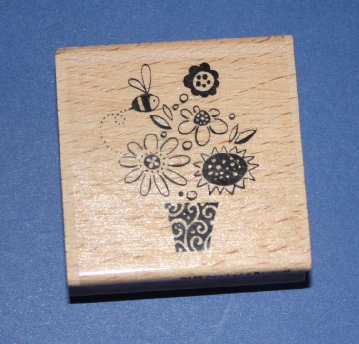 NEW Stampendous  Ooo-La-La Bouquet  D135 Wooden Backed Rubber Stamp - SALE