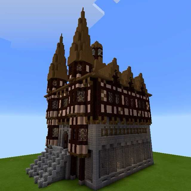 minecraft hall town medieval library industrial exterior imgur