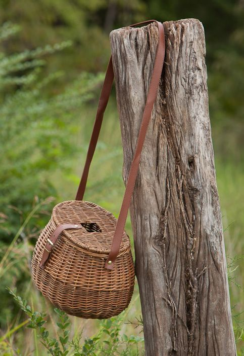 Willow Fishing Creel Basket #JustFishing