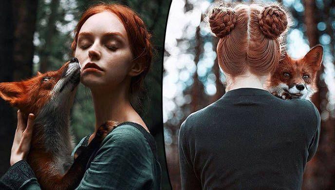 Alexandra Bochkareva'dan Kızıl Modeller ve Tilki ile Çekilen Masalsı Fotoğraflar - http://www.aylakkarga.com/alexandra-bochkarevadan-kizil-modeller-tilki-ile-cekilen-masalsi-fotograflar/