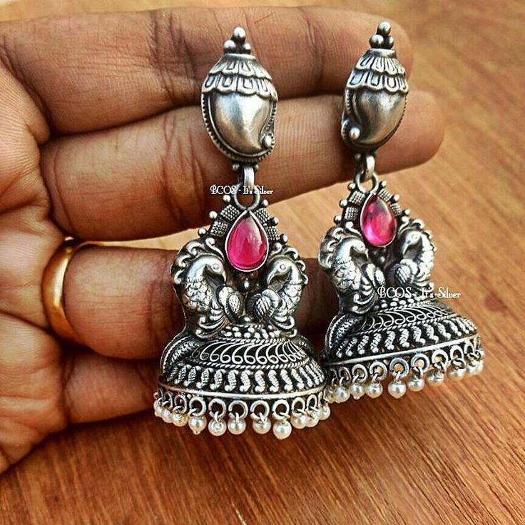 "297 Likes, 6 Comments - BCOS - Its Silver (@bcos_its_silver) on Instagram: ""Back in stock.. 4760rs long yet light weight jhumka.. Available at www.bcositssilver.com under pure…"""