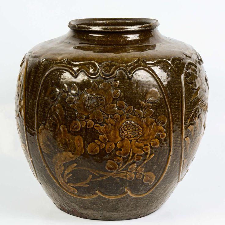 Chinese Ceramic Martaban Jar.