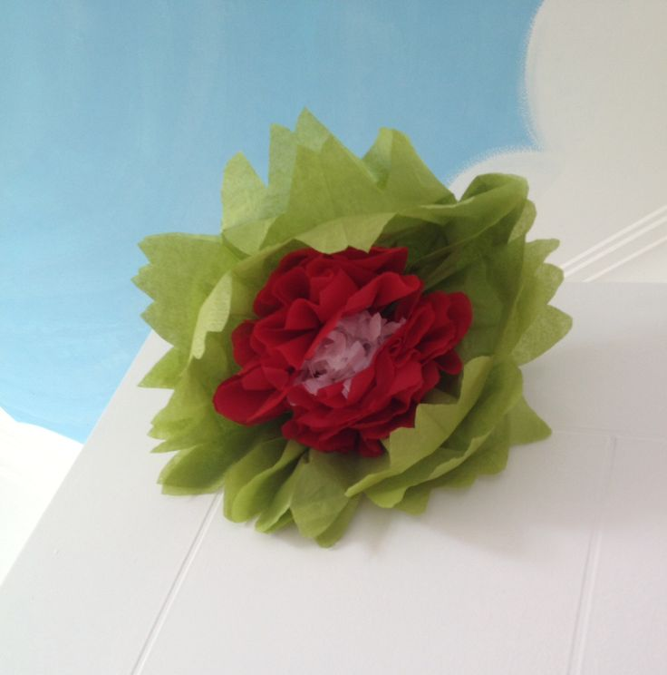 Diy tissue flower