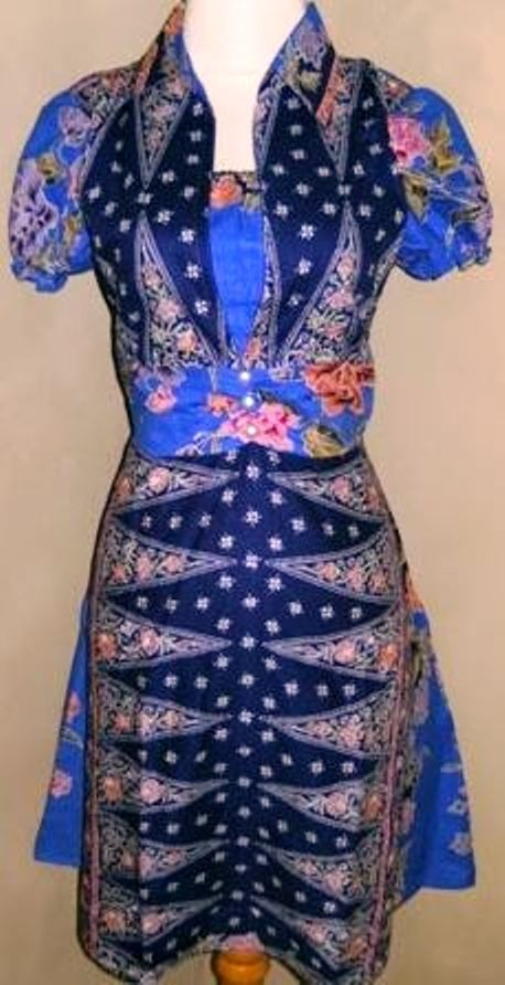 Indonesian batik dress