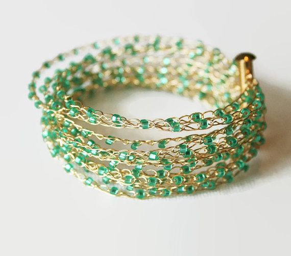 French Knitting With Beads : Best images about french knitting jewelry on pinterest