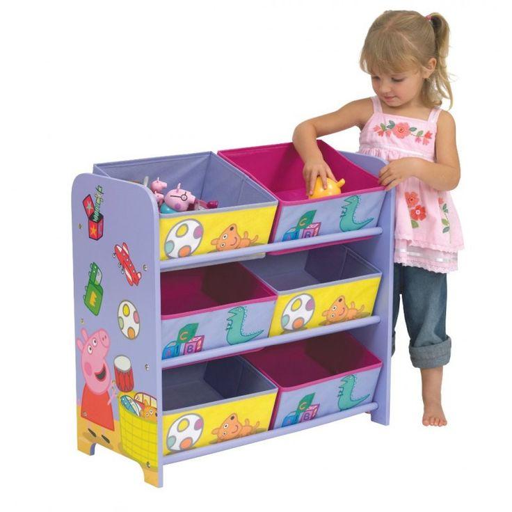 Juguetero Peppa Pig. #PeppaPig #mueblesPeppaPig #adelantatealaNavidad Juguetero de 6 cajones de la cerdita Peppa Pig. Tiene un tamaño de 60x63x30cm. Está fabricado con un marco de MDF lacado y 6 cajones de tela con diseños de Peppa. Muy práctico para que tengan la habitación recogida o la sala de juegos. Les encantará! http://www.licenciasinfantiles.es/p.7760.0.0.1.1-juguetero-peppa-pig.html
