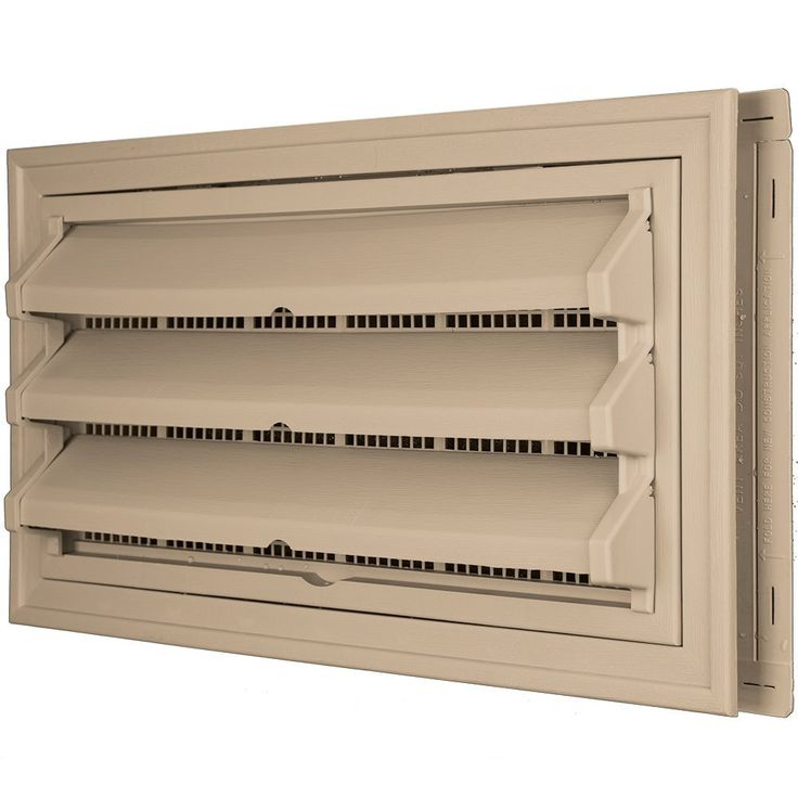 Builders Edge 140036419069 Foundation Vent Kit - Trim Ring and Fixed Louver option (Galvanized Screen) 069, Tan -- Want additional info? Click on the image.
