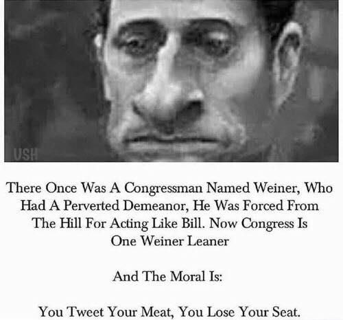 LOL, You Tweet Your Meat, You Loss Your Seat.....and your wife!