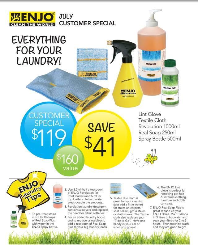 ENJO July Specials - Summer laundry made easy!