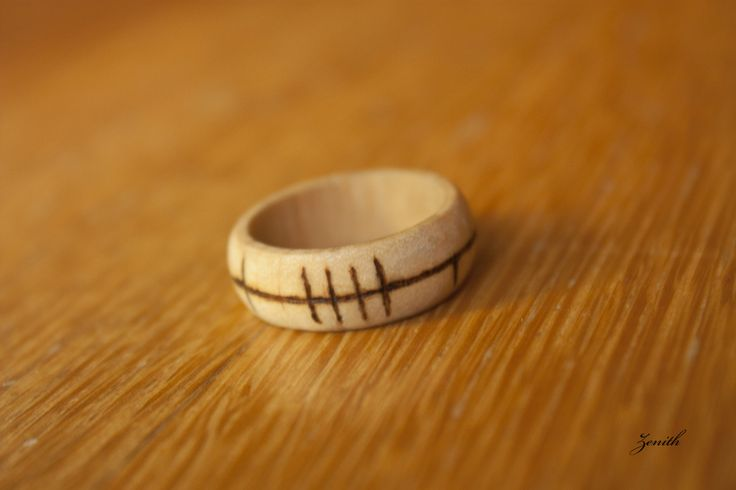 Wood! Wood! More wood! This ring is about life, beatha (the ogham inscription) being the old Irish word for it.  It's circularity symbolizes the renewal of life. Inspired by Buckquoy's spindle-whor...