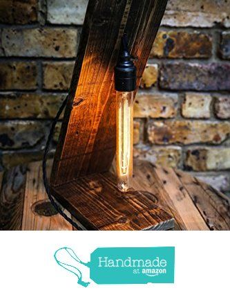 Angel Table Lamp Handmade from Reclaimed Wood with Vintage Bulb from MooBoo Home https://www.amazon.co.uk/dp/B01LW0ROTA/ref=hnd_sw_r_pi_dp_uKTmybDG9J2EM #handmadeatamazon