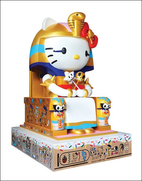 Simone Legno's 2014 sculpture Kittypatra is on display at the Hello Kitty exhibit at the Japanese American National Museum in Los Angeles.