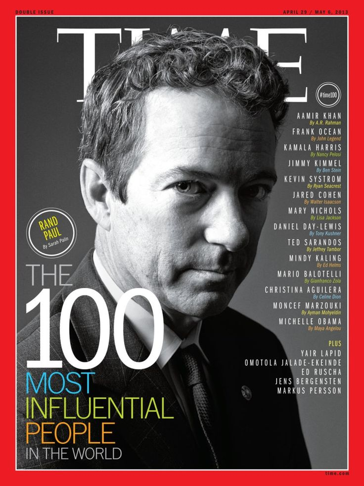April 29, 2013: The 100 Most Influential People in the World
