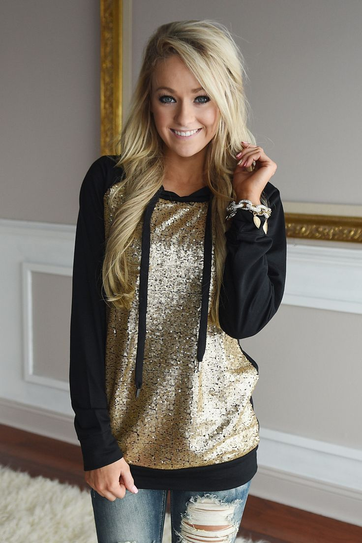 Prima Donna Hoodie ~ Gold Sequin – The Pulse Boutique
