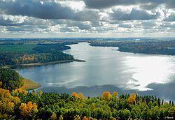 Polonia - Vista del Distrito de los lagos de Masuria, contiene más de 2000 lagos.