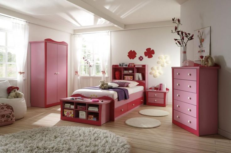 Bedroom: Pink And White Girl Bedroom White Marble Flooring Wooden Headboard White Bed Design With Olive Green Bed Cover Wooden Vanity With Mirror Tall Bedside Drawers And Green Lamp from 20 Decorative Girls Bedroom Ideas