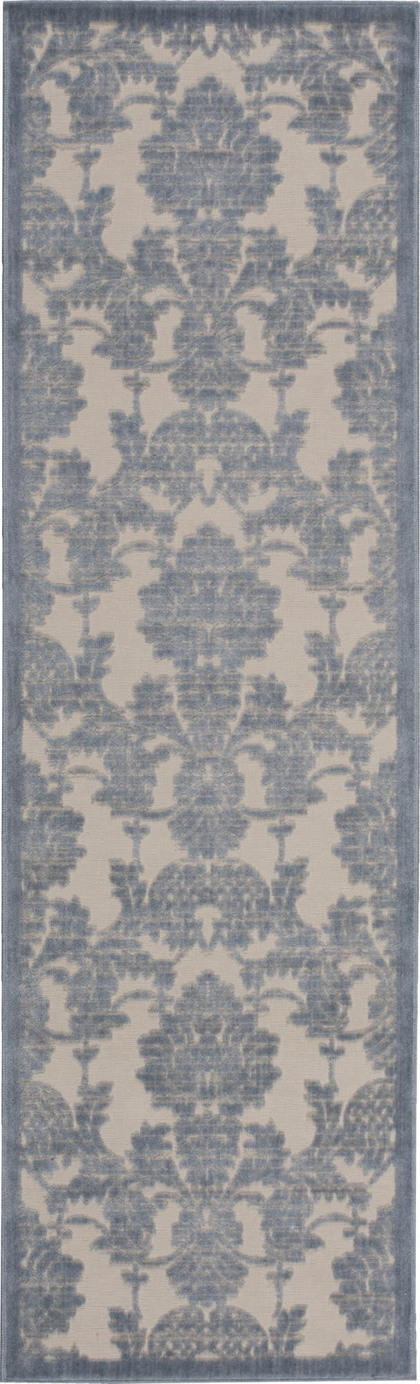 nourison graphic illusions ivorylight blue area rug gil03 ivltb runner
