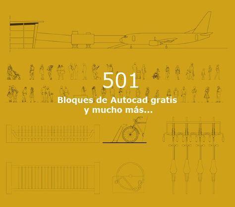 501 Bloques Autocad gratis para descargar 2D y 3D  #planos #dibujos #autocad #3d #2d #dwg #librerias #bloques #cad