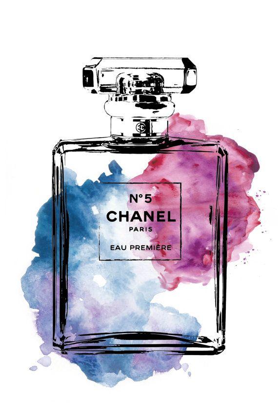 Chanel Chanel poster 24x36 Chanel No5 digital print by hellomrmoon