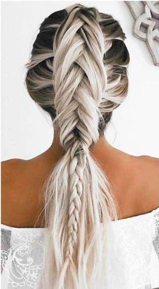 Braids & pony hairstyle 2016