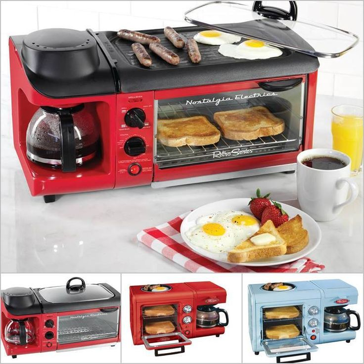 Creative Ideas - Nostalgia Electrics 3-in-1 Breakfast Station