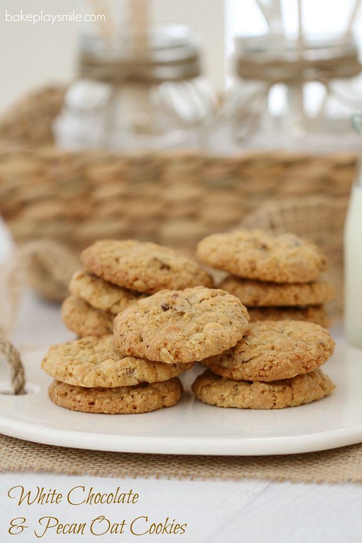 White Chocolate & Pecan Oat Cookies