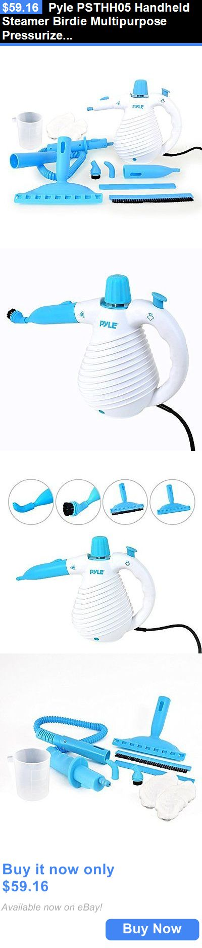PDA Accessories: Pyle Psthh05 Handheld Steamer Birdie Multipurpose Pressurized Steam Cleaner New BUY IT NOW ONLY: $59.16