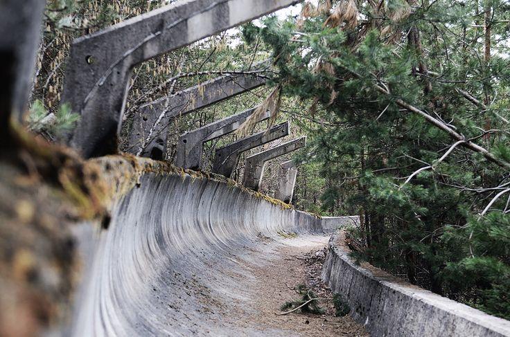 1984 Olympics in Sarajevo An abandoned bobsled track in Sarajevo, Yugoslavia (now Bosnia and Herzegovina).