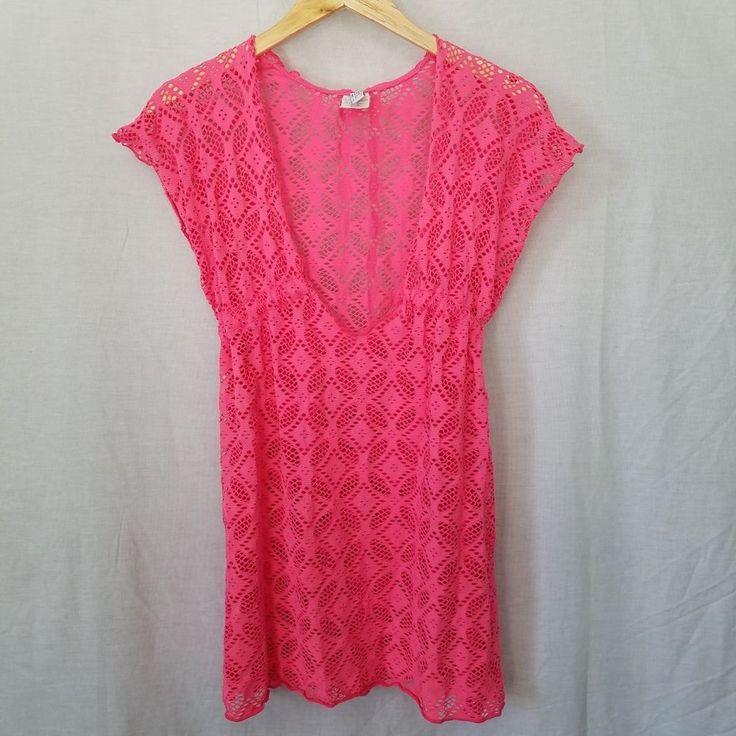 Becca by Rebecca Virtue Amore Hot Pink Crochet Knit Swim Cover Up Dress Medium | Clothing, Shoes & Accessories, Women's Clothing, Swimwear | eBay!