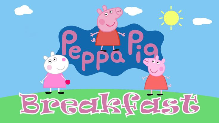 Peppa Pig and Suzy Sheep preparing breakfast!!!