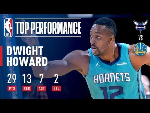 Dwight Howard Scores Season High 29pts and Ties Career High 7ast vs The Warriors - YouTube