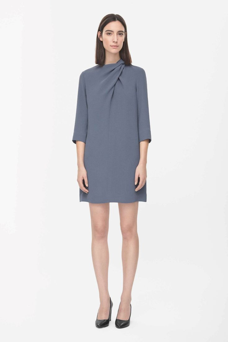 Cos Draped neck dress