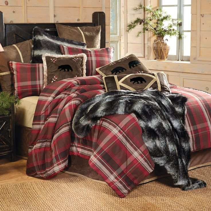 Lodge Retreat Plaid Bed Set King Clearance Rustic