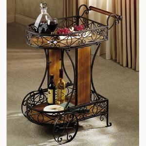 milan metal and wood serving cart - Dining Room Serving Carts