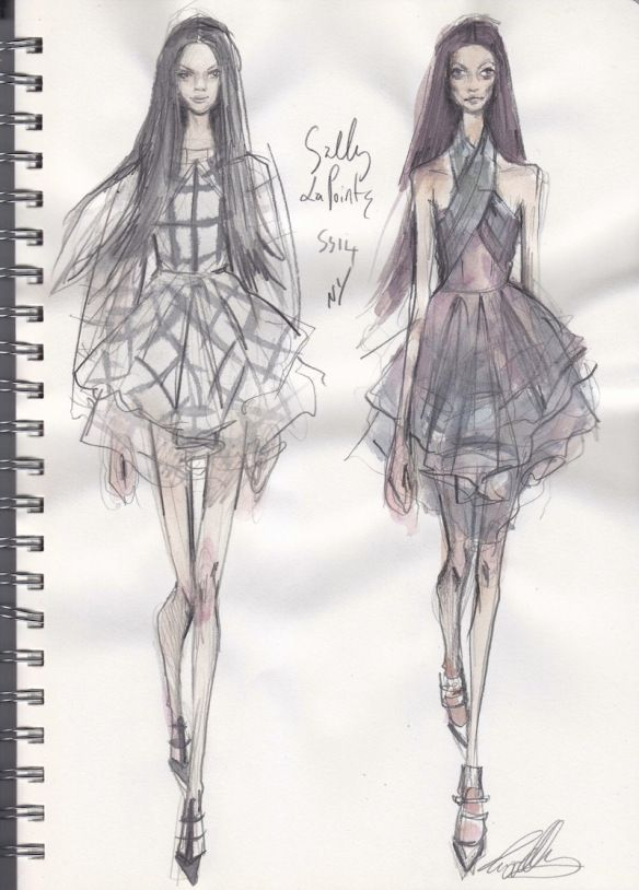 Fashion Sketchbook - runway fashion sketches; fashion drawings; fashion design journal // Pippa McManus