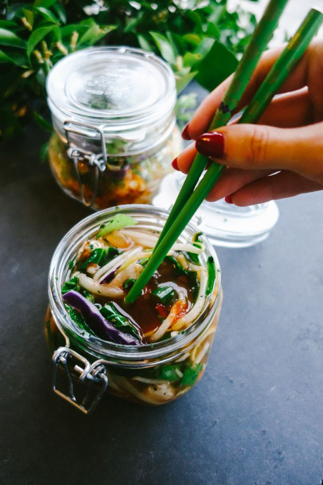 Homemade Pot Noodle | Stuff everything into a pot then add boiling water...couldn't be easier! Mix up the meat and veggies to enjoy a different pot everyday