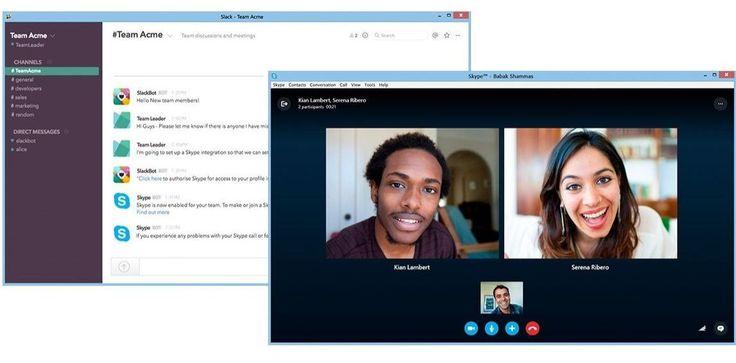 You can now start Skype calls from Slack Slacks, Google