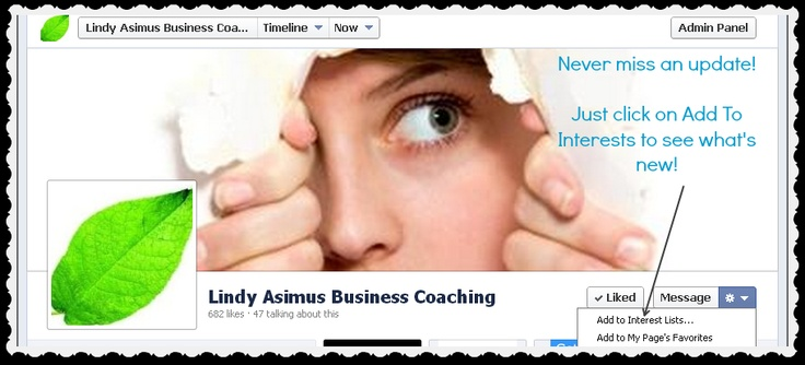 Lindy Asimus Business Coaching | You can find me on Facebook - do drop by and say Hi!  http://www.facebook.com/LAcoaching  Website http://www.lindyasimus.com