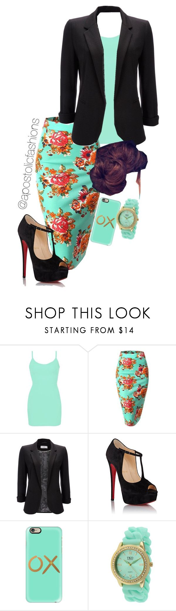 """Apostolic Fashions #974"" by apostolicfashions on Polyvore featuring BKE core, Wallis, Christian Louboutin, Casetify and TKO Orlogi"