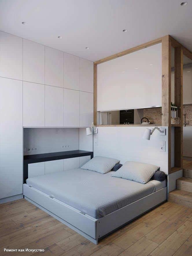 Квартира-студия 25 кв.м. – трансформирующийся интерьер