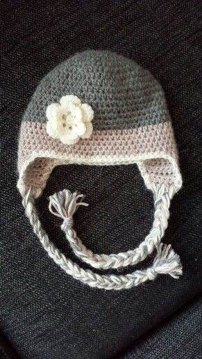 Crochet hat with flower :)
