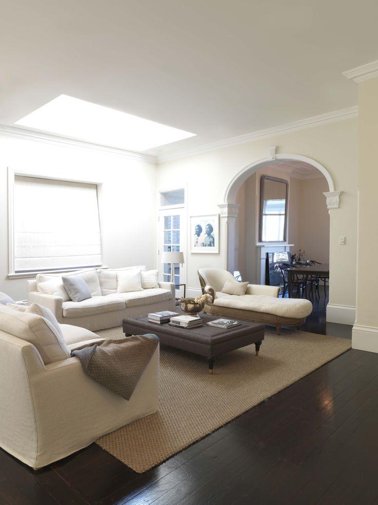 BELLEVUE ABODE   alwill  #interiors #livingroom #neutral #skylight