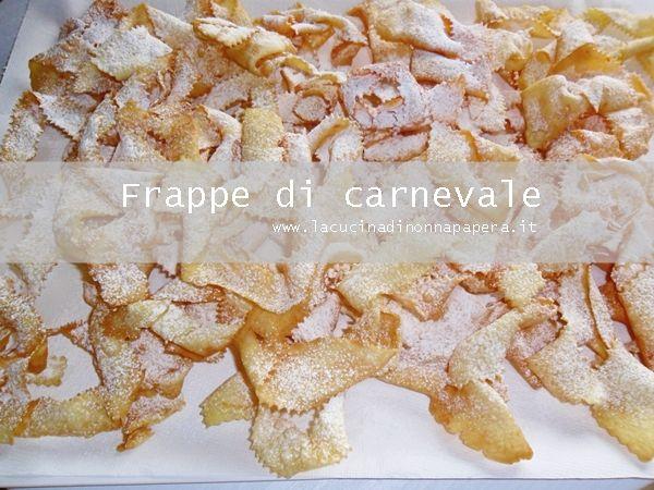 Frappe di carnevale fritte