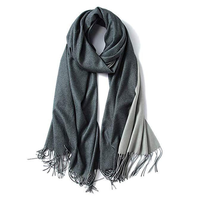 Dark Grey Soft Cashmere Shawl
