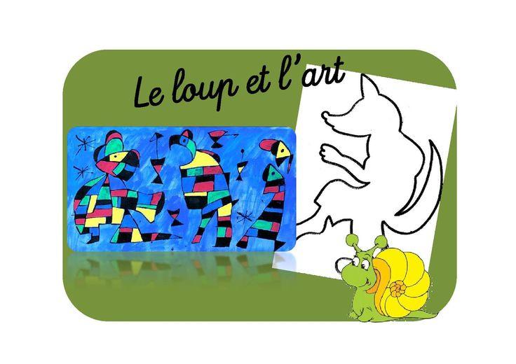 Le loup inspiré par Miro, Botero et Giacometti - Caracolus