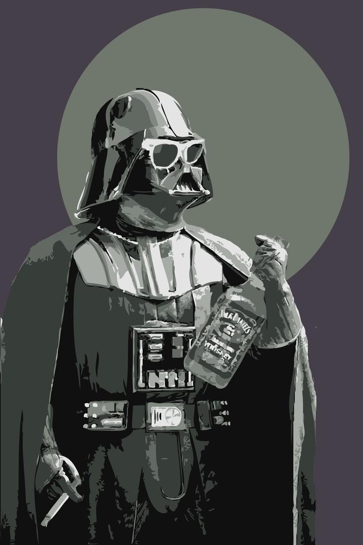 Star Wars Art DARTH FADER Size A. $19.00, via Etsy.