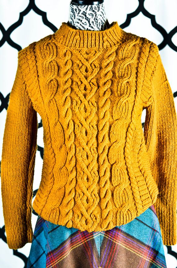 Vintage 80s Cable Knit Sweater